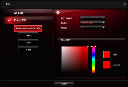 MSI GTX 1070 Gaming X 8G LED