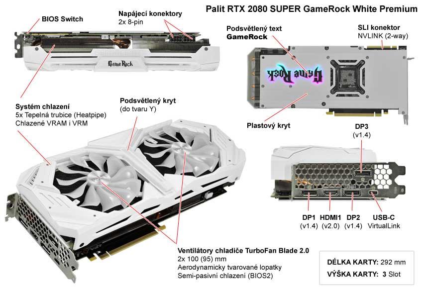Palit RTX 2080 Super WGRP; popis